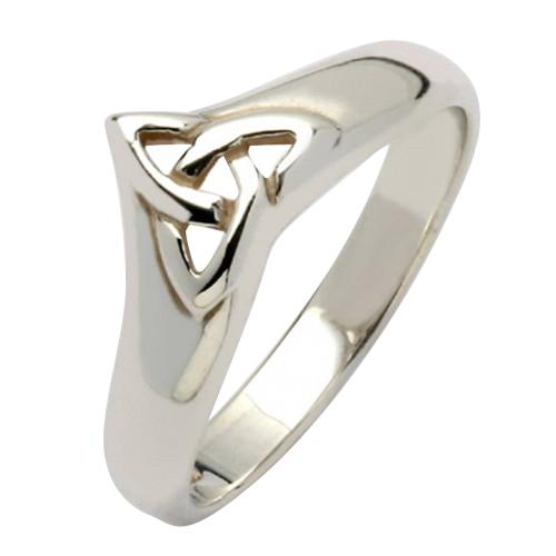 White Gold Celtic Trinity Knot Ring Irish Trinity Knot Ring