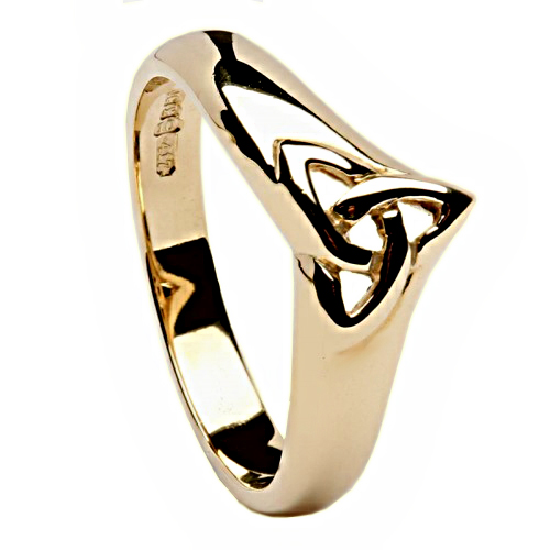 rings heart solid claddagh wr ladies celtic gold rose ring knot silver