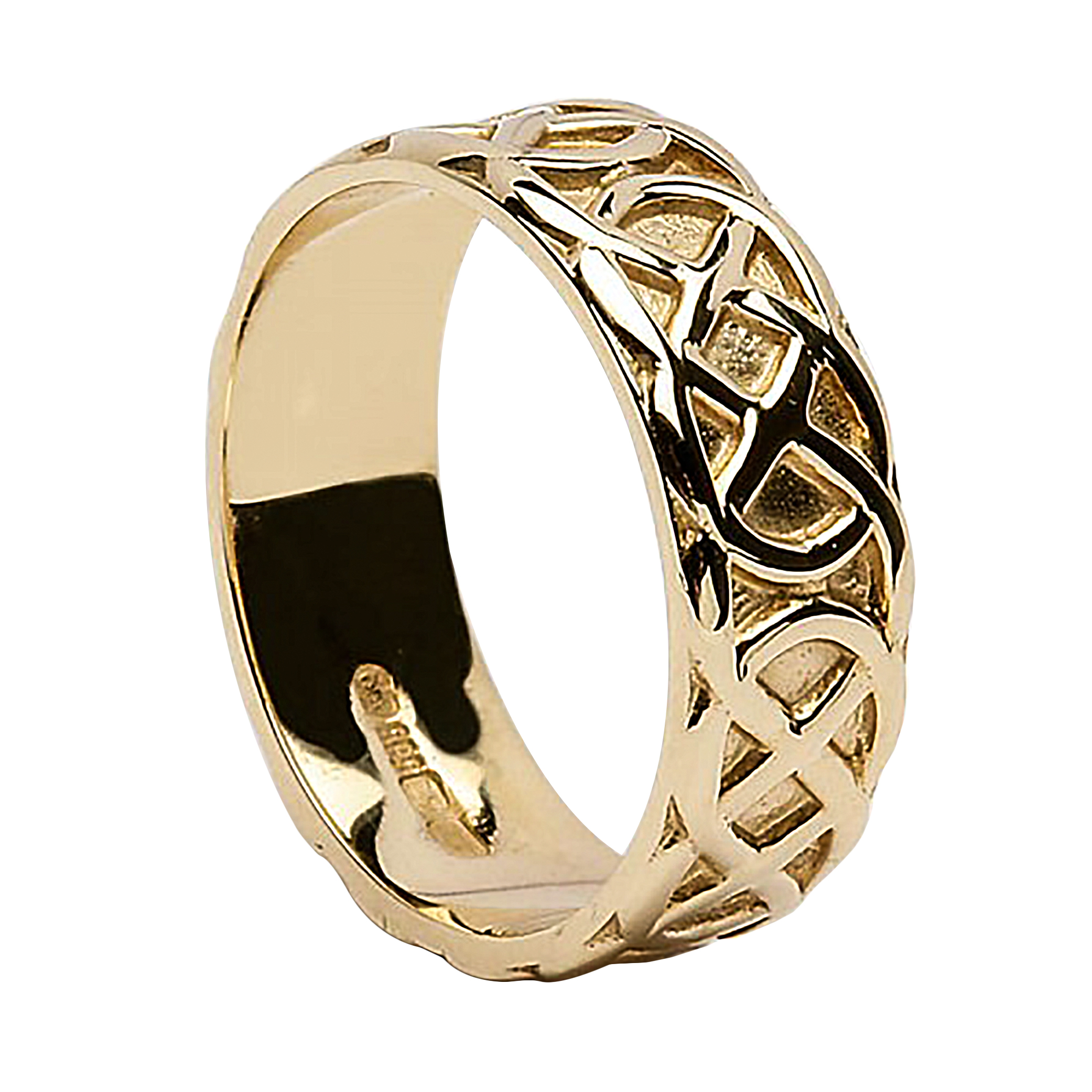 unique il band signet bands geometric karat solid zoom gold fullxfull listing ring