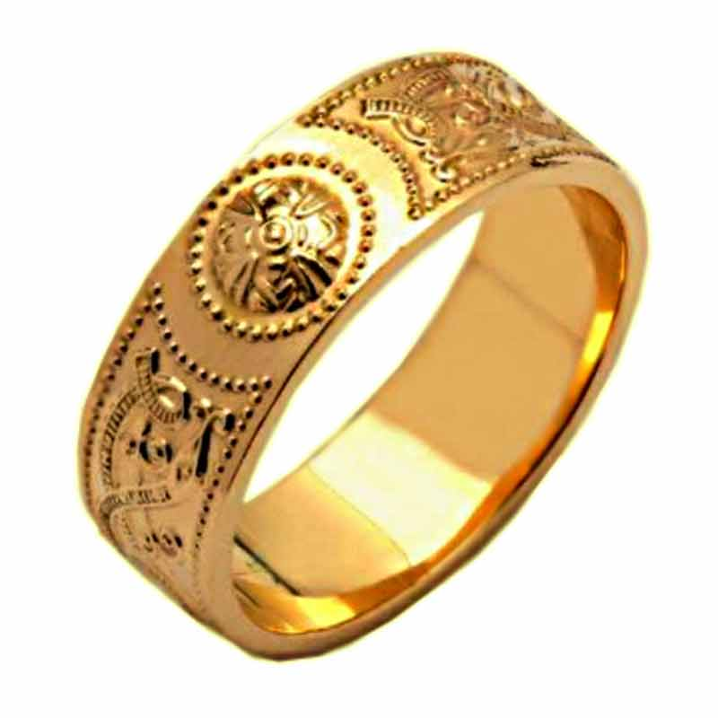 wedding corrib gold ring rings claddagh karat irish band bands