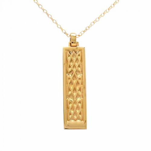 Irish Gold Pendant - An Ri (The King) - Celtic Knots An Rí Collection