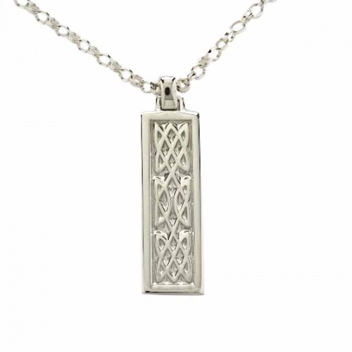 Irish White Gold Pendant - An Ri - The King - Celtic Knots An Rí Collection