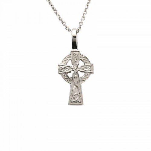 Irish white gold celtic cross celtic cross pendant baby cross irish white gold celtic cross baby size 14 karat earrings pendants aloadofball Images