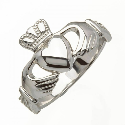 White Gold Claddagh Ring - Ross 14K Claddagh Rings