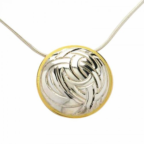 Irish Two Tone Pendant - Livia Collection Livia Jewelry Collection