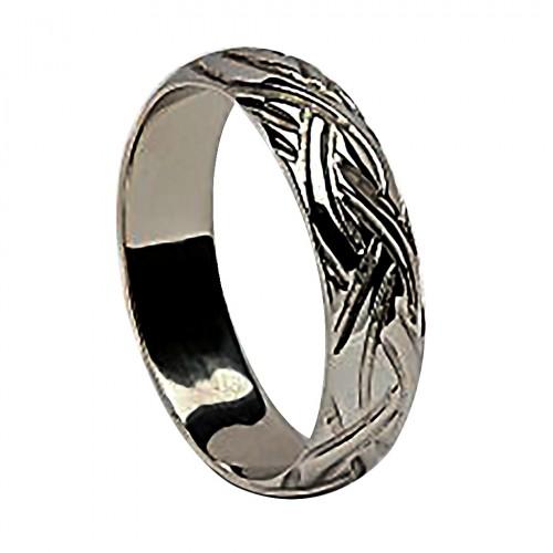 Irish Silver Wedding Ring - Livia - Narrow Irish Wedding Rings