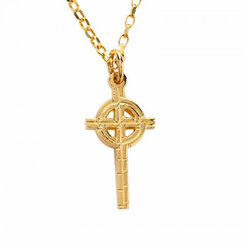 Irish gold celtic cross old st pats cross irish made fado irish gold celtic cross old st pats cross chicago earrings pendants mozeypictures Gallery