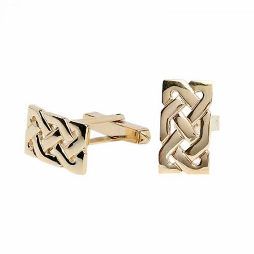 Irish Gold Celtic Knot Cufflinks - Sheelin Collection Sheelin Jewelry Collection