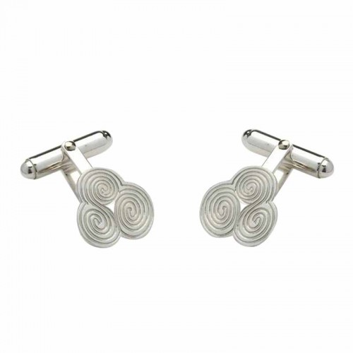 Irish Silver Cufflinks - Newgrange - Sheelin Collection Sheelin Jewelry Collection
