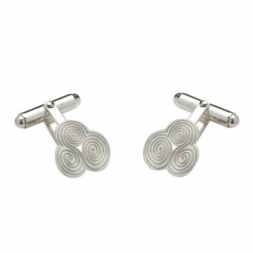 Irish White Gold Cufflinks - Newgrange - Sheelin Collection Sheelin Jewelry Collection