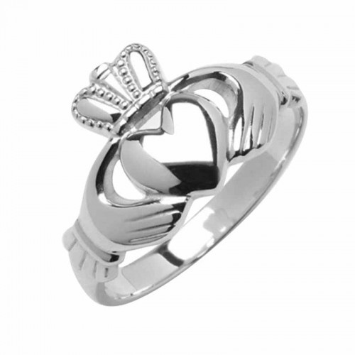 White Gold Claddagh Ring - Kells Claddagh Rings