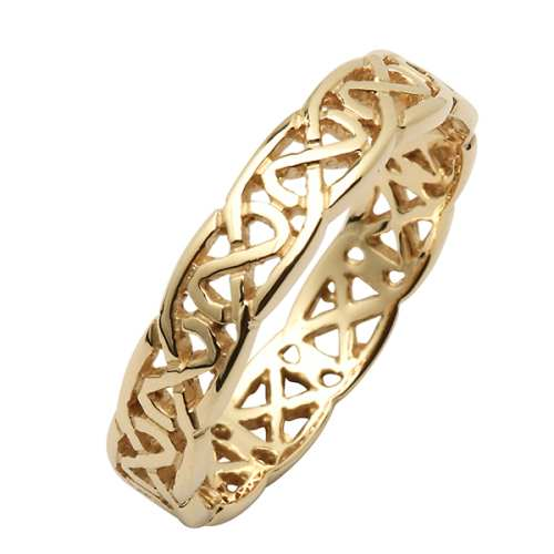 Irish Wedding Ring - Trinity Knots - 18 Karat - Narrow Irish Wedding Rings