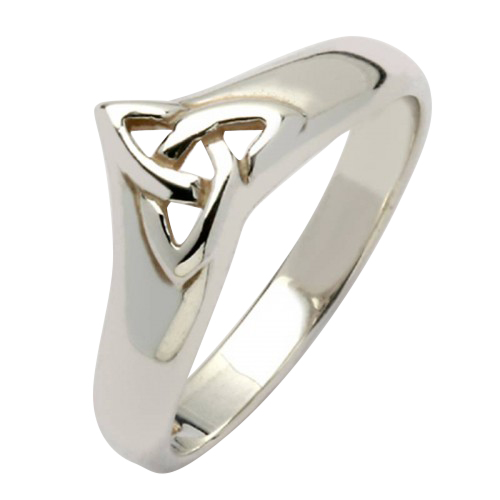 White Gold Trinity Knot Ring Boyne Collection