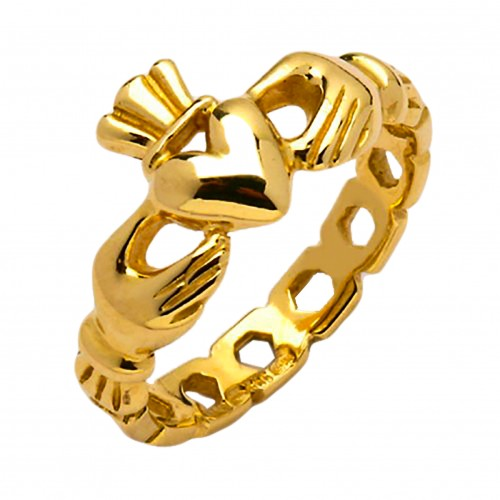 Gold Claddagh Ring - Mask Claddagh Rings