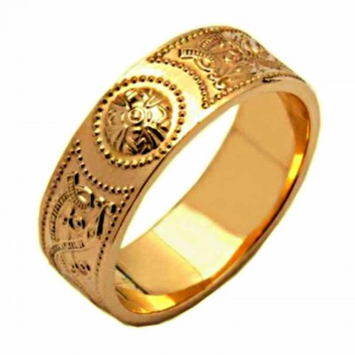 Irish Gold Wedding Ring An Rí The King 18 Karat Medium