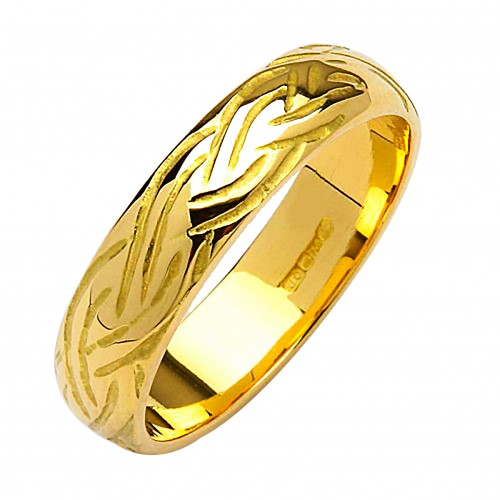 Irish Gold Wedding Ring - Livia - 10K Gold - Medium Dome Irish Wedding Rings