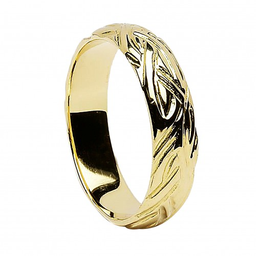 Irish Gold Wedding Ring - Livia - 10K Gold - Narrow Irish Wedding Rings