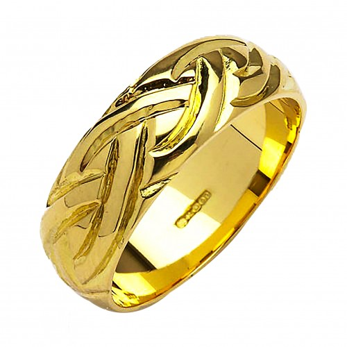 Irish Gold Wedding Ring - Livia - 10K Gold - Wide Dome Irish Wedding Rings