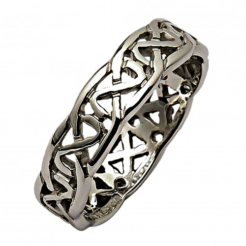 Silver Celtic Knot Ring Silver Wedding Ring Fado Jewelry