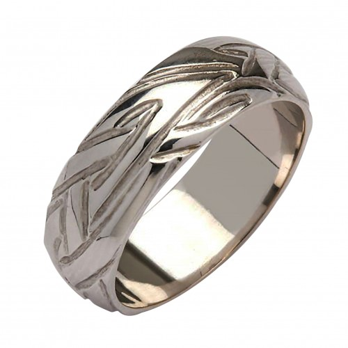 Irish Silver Wedding Ring - Livia - Wide Dome Irish Wedding Rings
