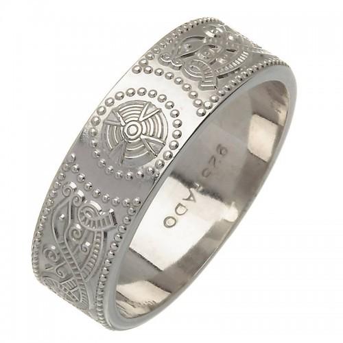 Irish Silver Wedding Band - An Rí (The King) - Medium Irish Wedding Rings